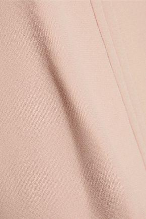 GIAMBATTISTA VALLI Macramé-paneled crepe mini dress