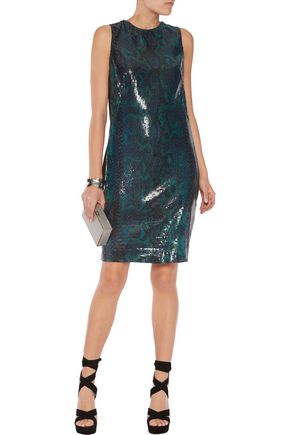 ROBERTO CAVALLI Sequined stretch-jersey mini dress