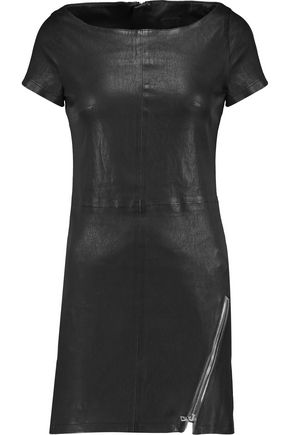 RTA Helene embellished stretch-leather mini dress
