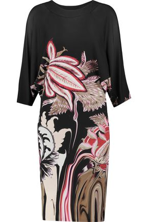 ROBERTO CAVALLI Printed stretch-knit dress