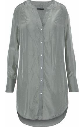 J BRAND Crinkled-satin shirt
