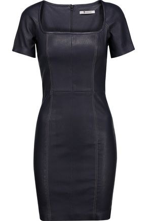 T by ALEXANDER WANG Leather mini dress