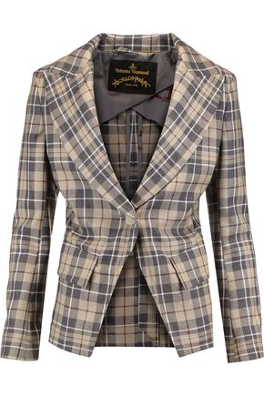 VIVIENNE WESTWOOD ANGLOMANIA New Bag plaid wool blazer