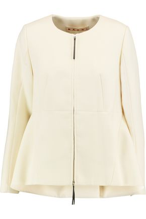 MARNI Wool-crepe peplum jacket