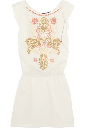 ANTIK BATIK Embroidered cotton mini dress