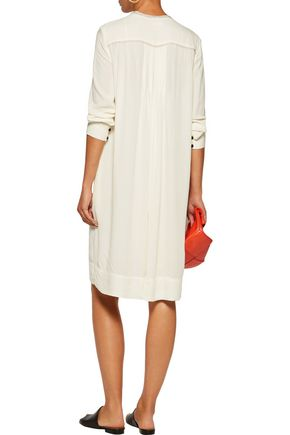 ISABEL MARANT ÉTOILE Camil pintucked embroidered crepe dress