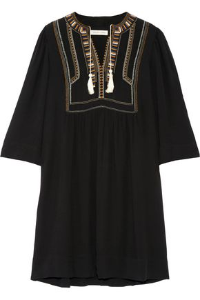 ISABEL MARANT ÉTOILE Clara embroidered crepe mini dress