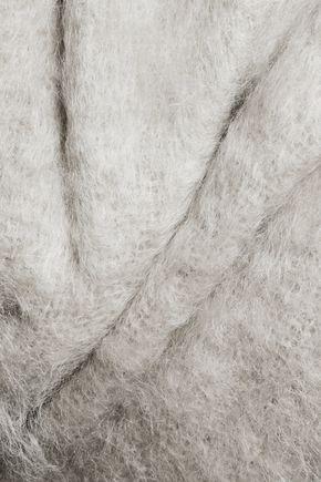 RICK OWENS Asymmetric draped mohairl-blend coat