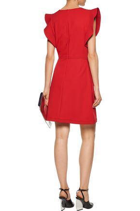 OPENING CEREMONY William ruffled embroidered crepe mini dress