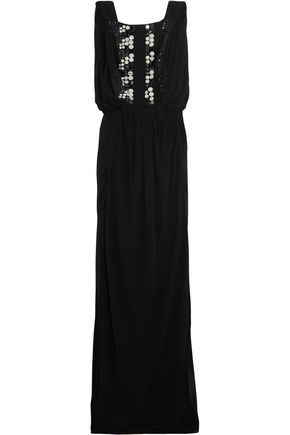 VIONNET Embellished jersey gown