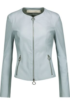 DROMe Zip-detailed leather jacket