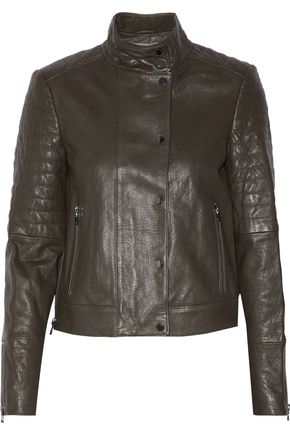 J BRAND Marshall quilted leather biker jacket