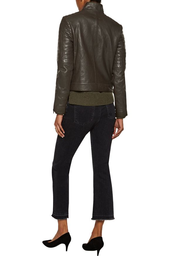 Marshall quilted leather biker jacket | J BRAND | Sale up to 70% off | THE  OUTNET