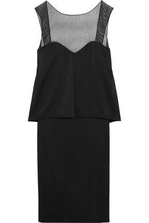 MAISON MARGIELA Mesh-paneled layered satin dress