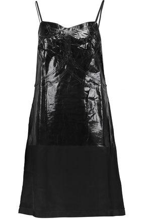 MM6 by MAISON MARGIELA Metallic PVC-paneled modal-blend dress
