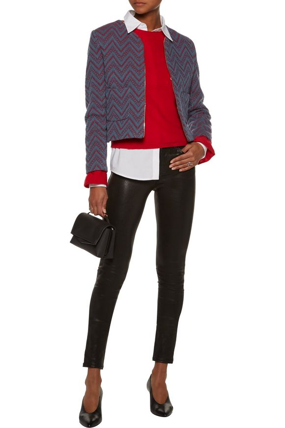Andy two-tone cotton-blend bouclé blazer | SANDRO | Sale up to 70% off |  THE OUTNET