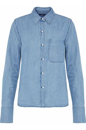 J BRAND Cotton and linen-blend chambray shirt