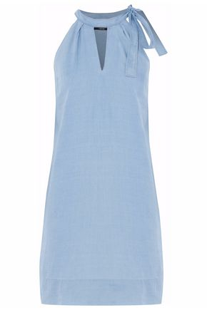 J BRAND Cutout cotton-chambray mini dress