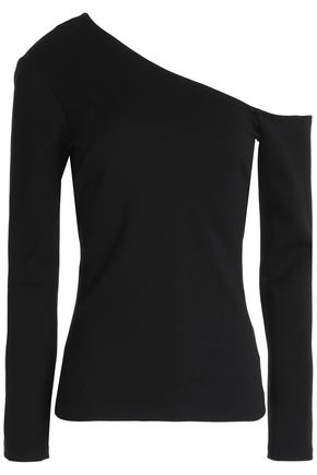 L'AGENCE One-shoulder stretch-jersey top