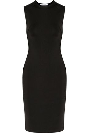 GIVENCHY Lace-up stretch-knit mini dress