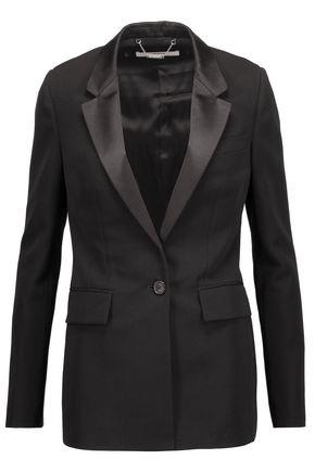 GIVENCHY Satin-paneled wool-crepe blazer