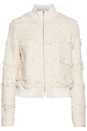 A.L.C. Judd frayed cotton-blend bouclé-tweed jacket