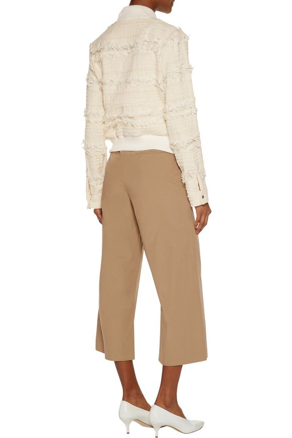 Judd frayed cotton-blend bouclé-tweed jacket   A.L.C.   Sale up to 70% off    THE OUTNET
