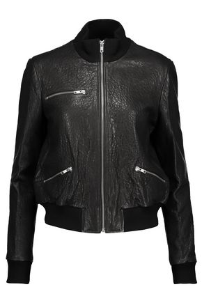 A.L.C. Jordyn textured-leather jacket
