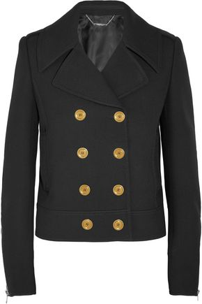 ALEXANDER MCQUEEN Double-breasted wool and silk-blend twill jacket