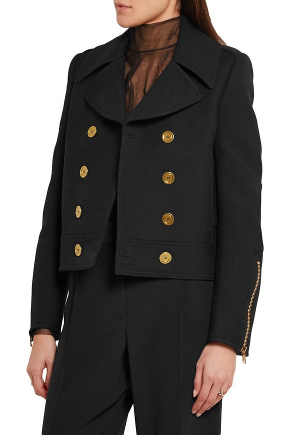 Double-breasted wool and silk-blend twill jacket | ALEXANDER MCQUEEN | Sale  up to 70% off | THE OUTNET