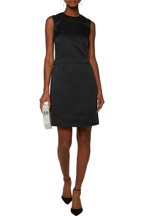 CALVIN KLEIN COLLECTION Frances cutout washed-crepe satin dress