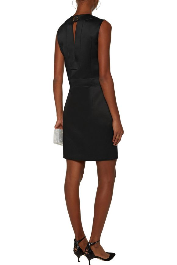 Frances cutout washed-crepe satin dress | CALVIN KLEIN COLLECTION | Sale up  to 70% off | THE OUTNET