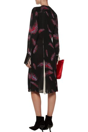 EMILIO PUCCI Pleated printed silk-blend crepe dress