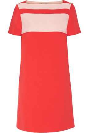EMILIO PUCCI Two-tone paneled wool-blend crepe mini dress