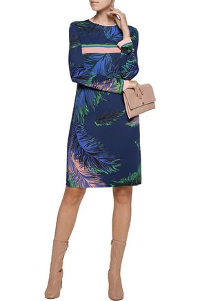 EMILIO PUCCI Silk-trimmed printed crepe mini dress