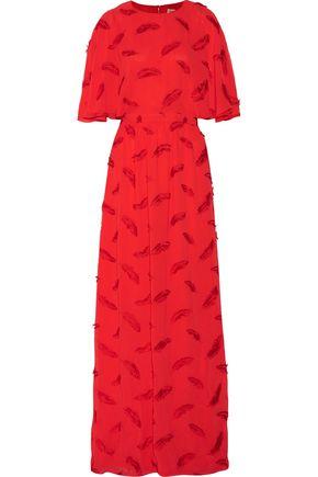 EMILIO PUCCI Draped embroidered chiffon gown