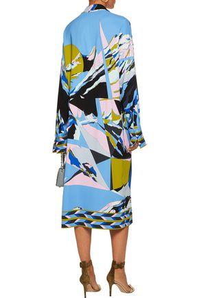 EMILIO PUCCI Oversized printed stretch-cady midi dress