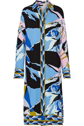 EMILIO PUCCI Oversized printed stretch-cady midi dress
