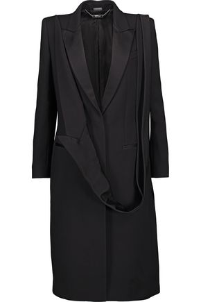 ALEXANDER MCQUEEN Satin-trimmed wool and silk-blend twill jacket