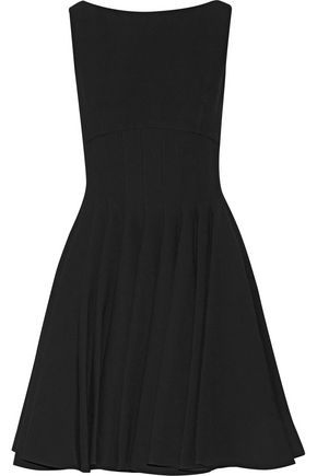 MIU MIU Pleated crepe mini dress