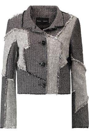 PROENZA SCHOULER Frayed patchwork tweed jacket
