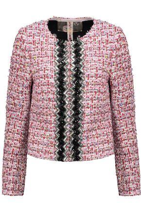 GIAMBATTISTA VALLI Embellished cotton-blend bouclé-tweed jacket