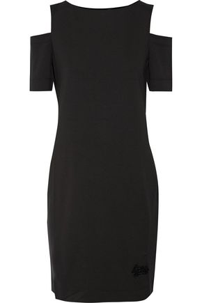 LOVE MOSCHINO Cold-shoulder stretch-jersey dress