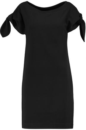 LOVE MOSCHINO Knotted stretch-jersey dress