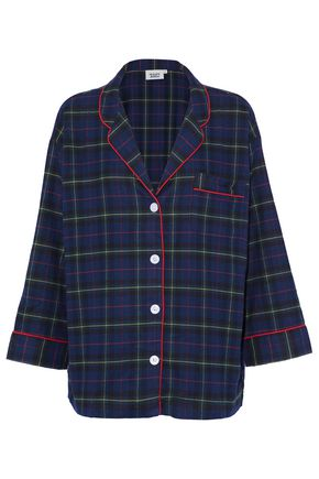 SLEEPY JONES Cotton-flannel pajama top