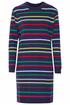 SLEEPY JONES Striped cotton night dress
