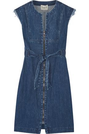 SEA Frayed denim dress
