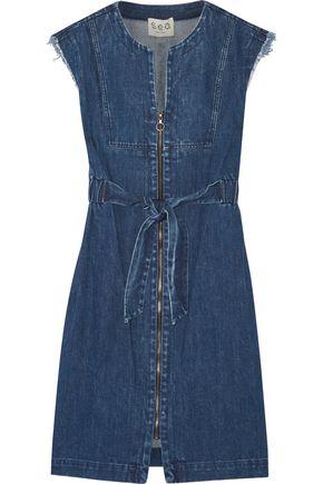 SEA Frayed denim dress