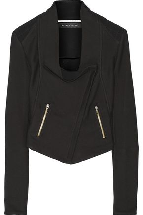 ROLAND MOURET Mensa basketweave cotton-blend biker jacket