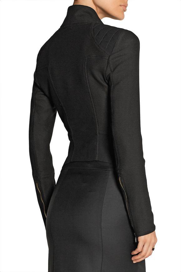 Mensa basketweave cotton-blend biker jacket | ROLAND MOURET | Sale up to 70%  off | THE OUTNET